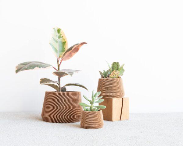 savanna wood indoor planter