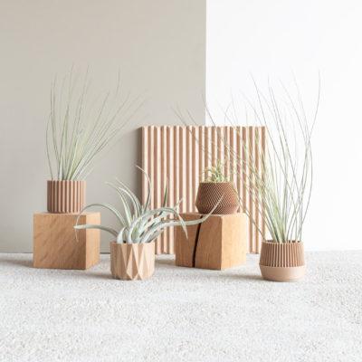 Set of 4 planters - Oslo Origami Kobe Stockholm