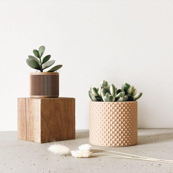 japan wood planter