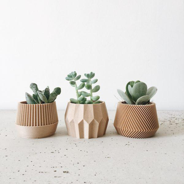Set of 3 planters - Oslo Kobe Tokyo
