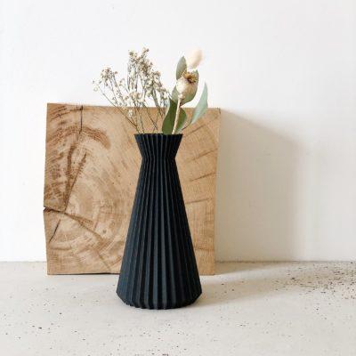 Black ISHI Vase