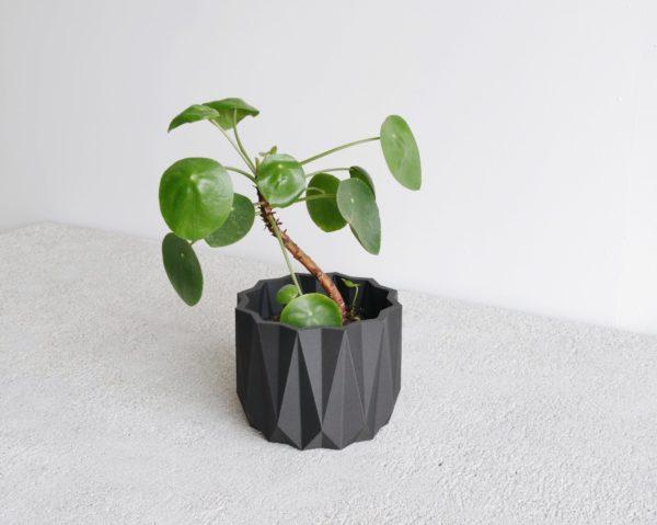black Origami indoor planter