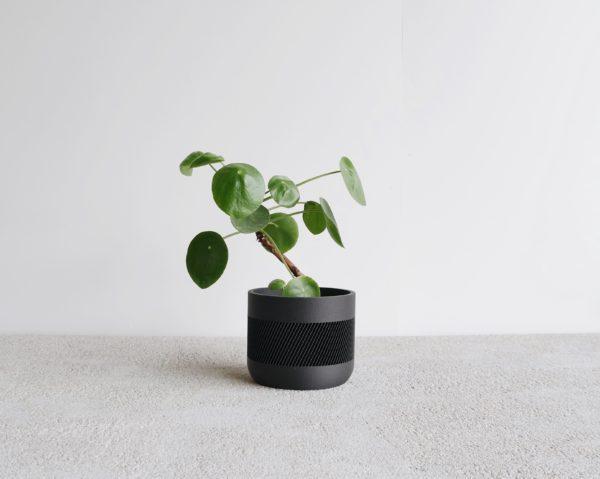 Black Therma indoor planter