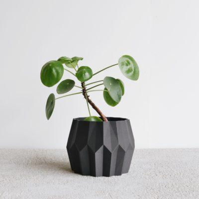 Black Tokyo indoor planter